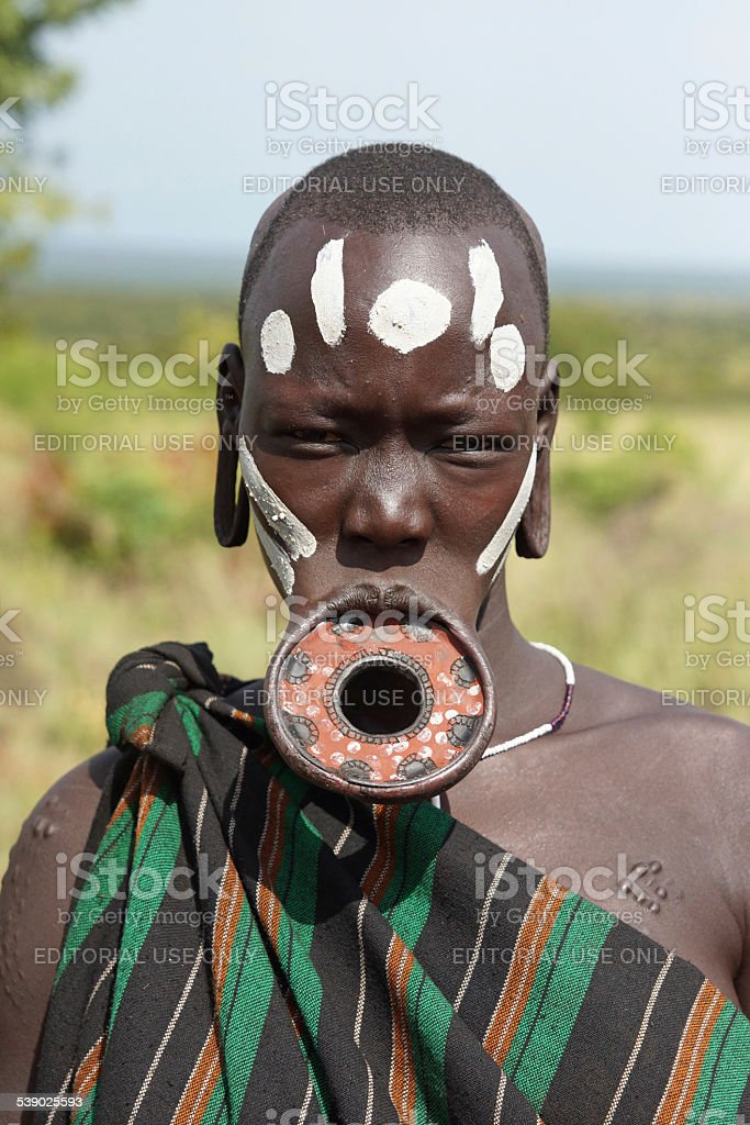 Mursi, Ethiopia, Africa stock photo