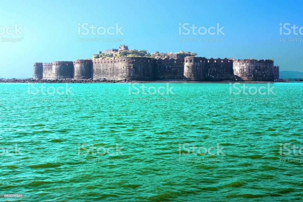 Murud-Janjira fort on an island in Maharashtra, India foto de stock royalty-free