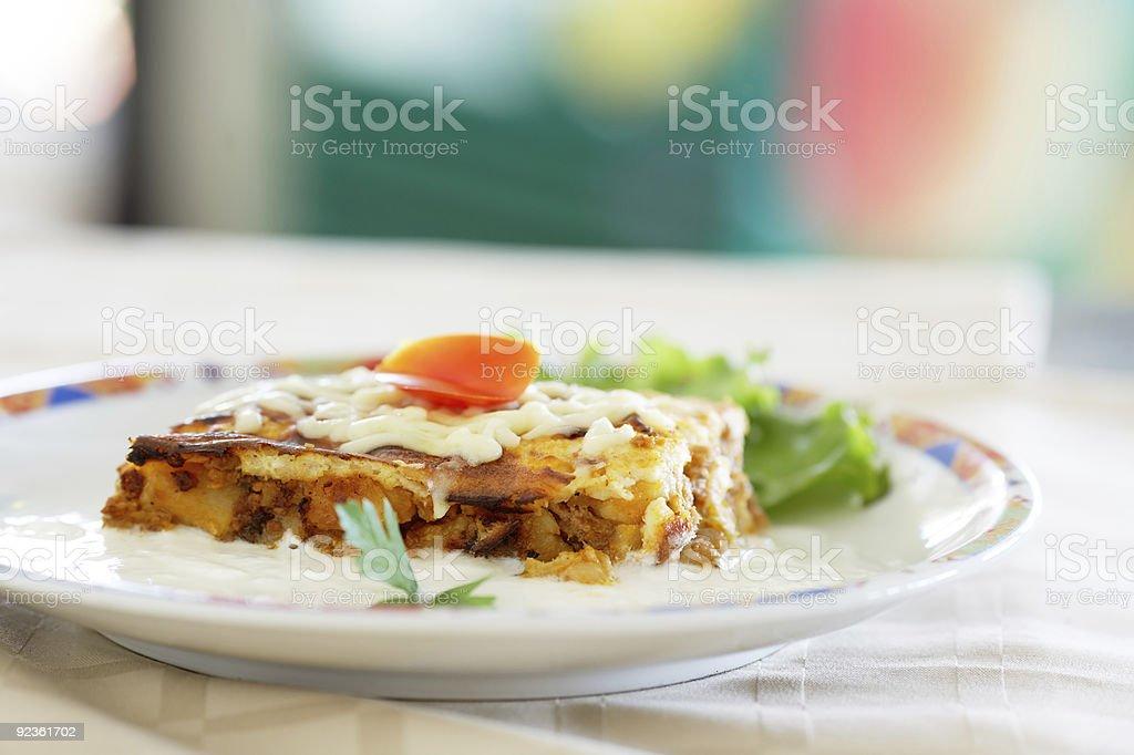 Musaka traditional Bulgarian food royalty-free stock photo