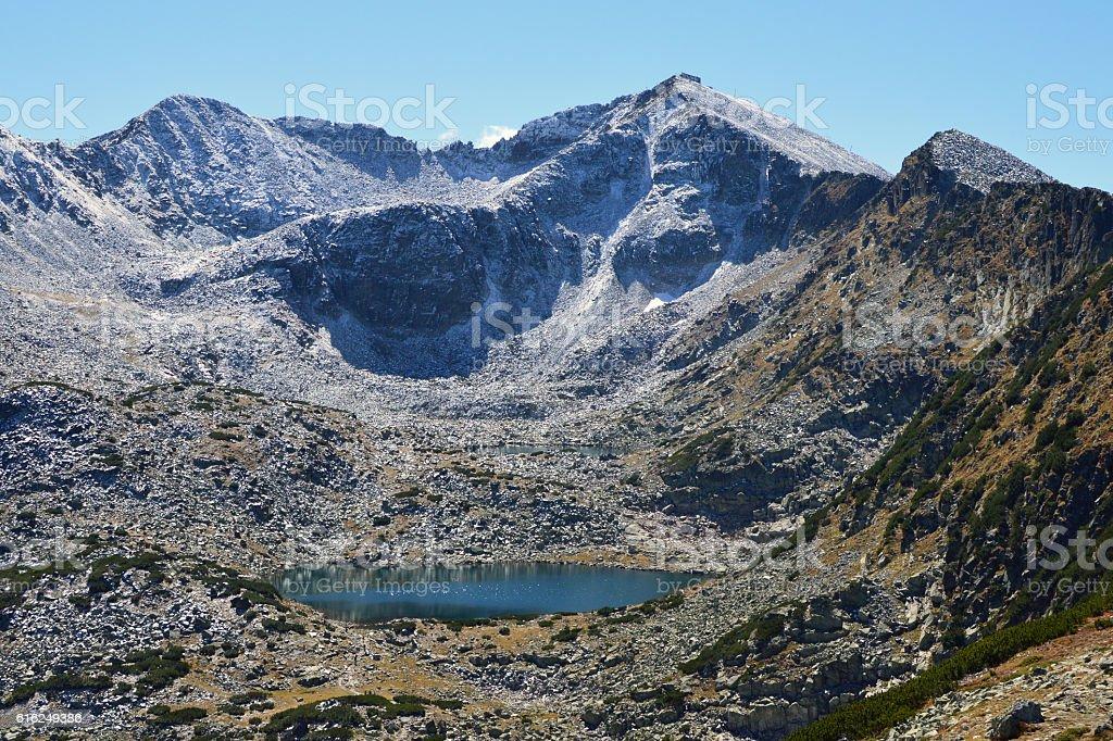 Musala, Rila Mountain, Bulgaria, the highest peak in the Balkans stock photo