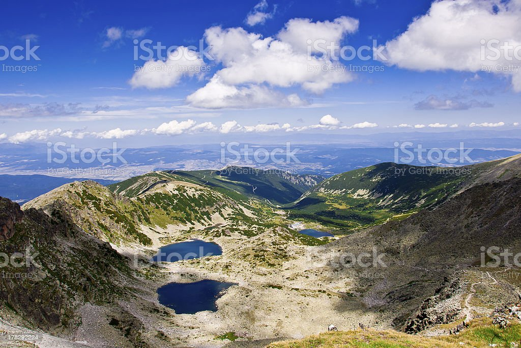 Musalenski lakes stock photo