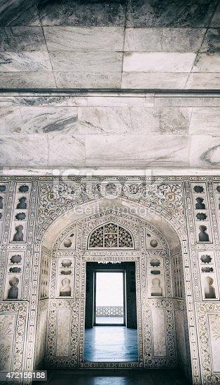 istock Musamman Burj Interior at Agra Fort in Agra, India 472156188