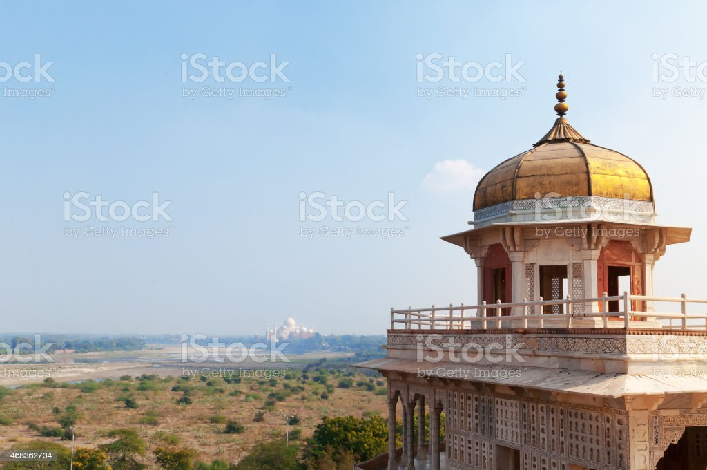 Musamman Burj of Red Agra Fort royalty-free stock photo