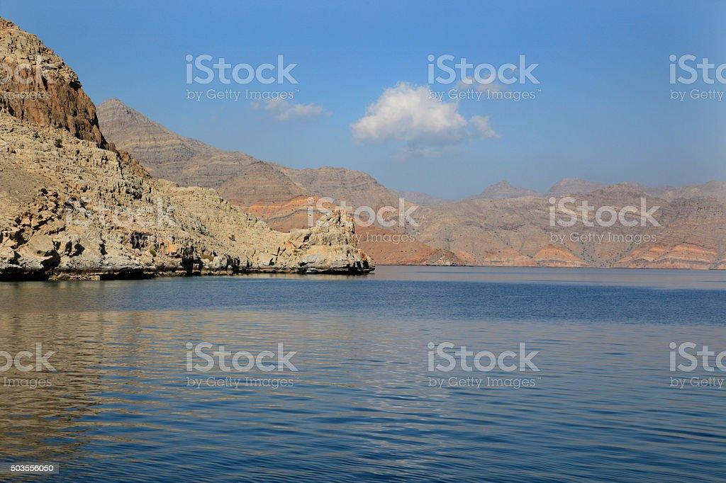 Musandam coast, Oman stock photo