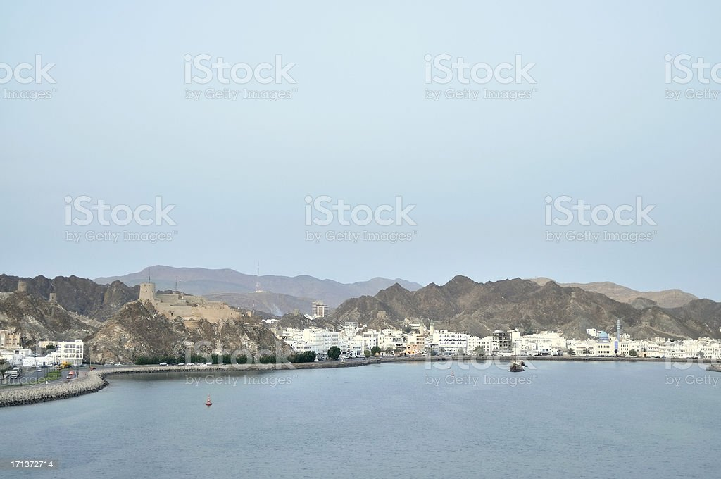 Muscat Governate In Port Sultan Qaboos royalty-free stock photo