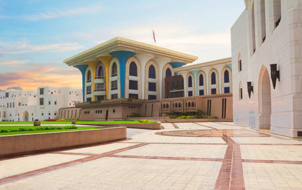 Muscat, Oman, 2013:04:08 der Palast von al-Alam in Maskat. – Foto