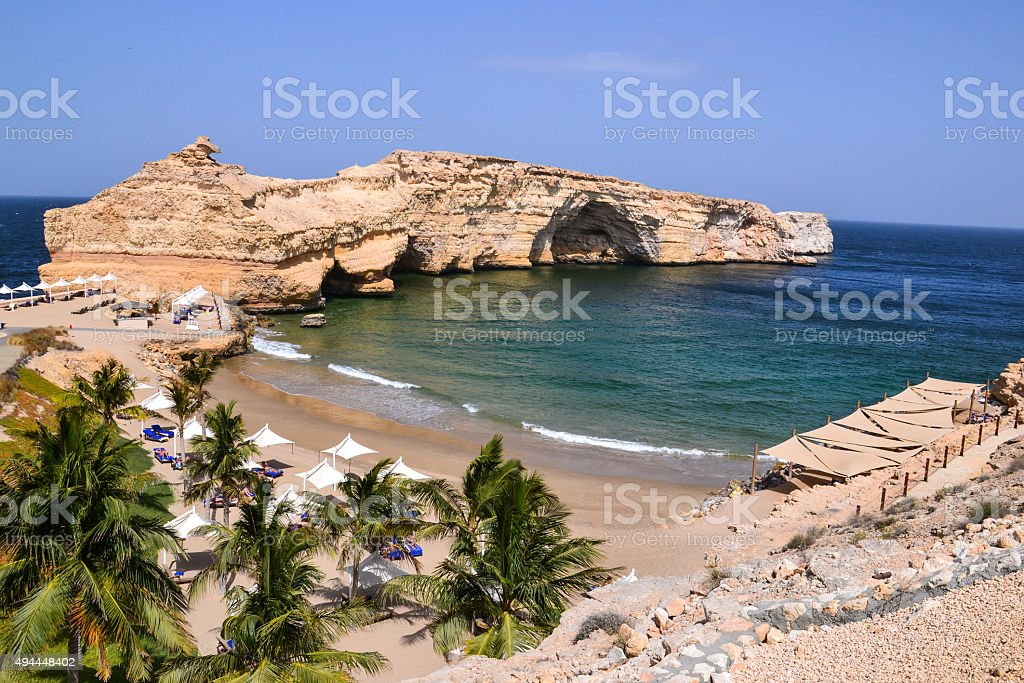 Muscat Shangri-La beach stock photo