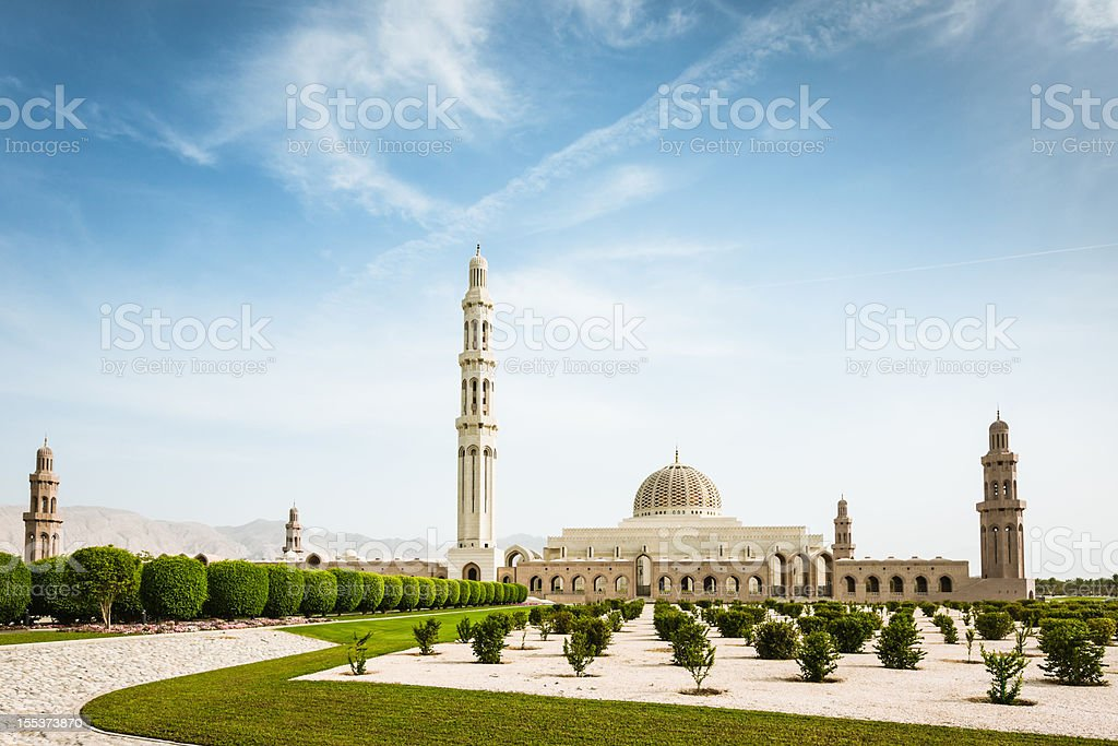 Muscat Sultan Qaboos Grand Mosque Oman stock photo