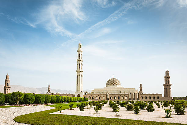 Muscat Sultan Qaboos Grand Mosque Oman  grand mosque stock pictures, royalty-free photos & images