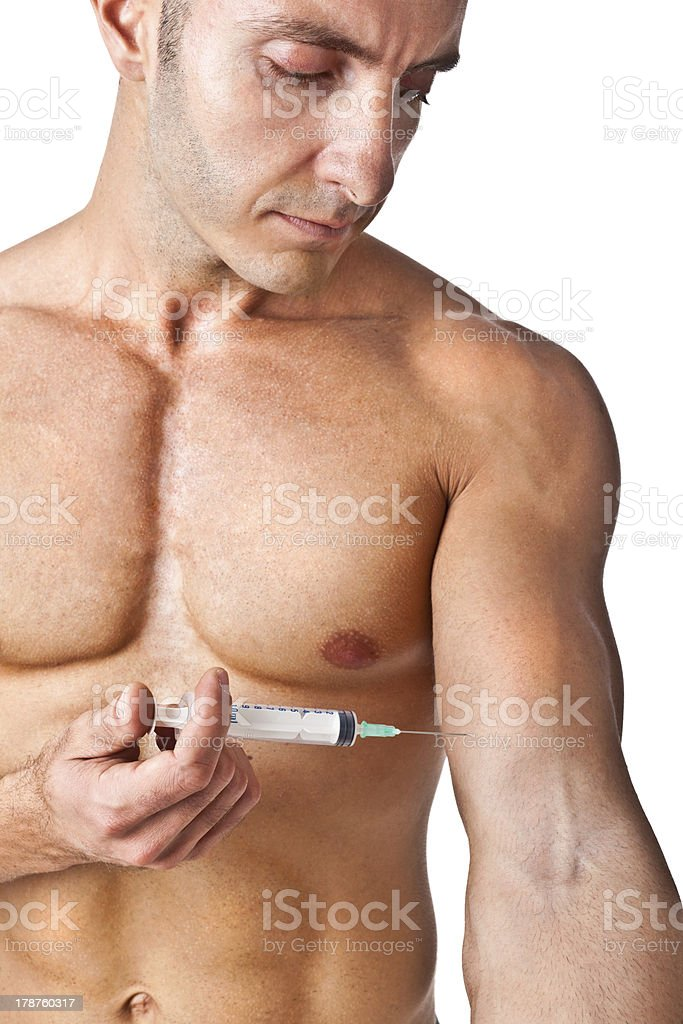 Muscle and needle royalty-free stock photo
