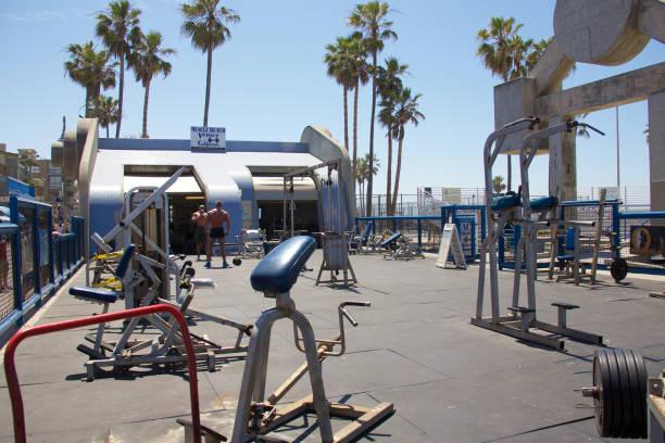 Muscle Beach stock photo