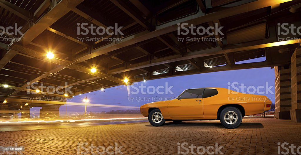 Muscle car. stock photo