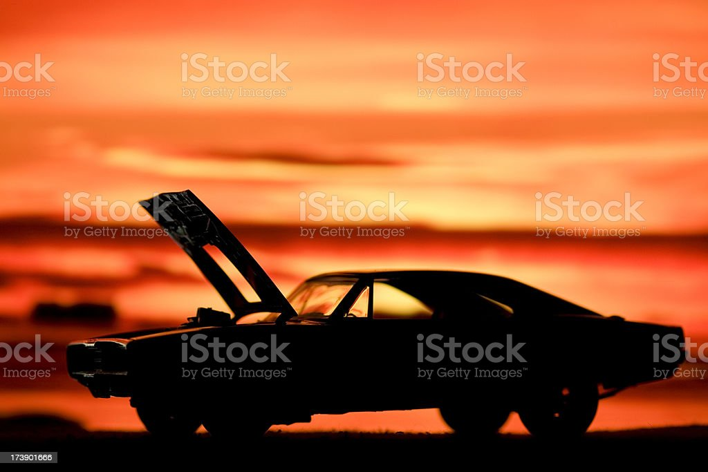 Muscle Car Silhouette Stock Photo More Pictures Of 1960 1969 Istock