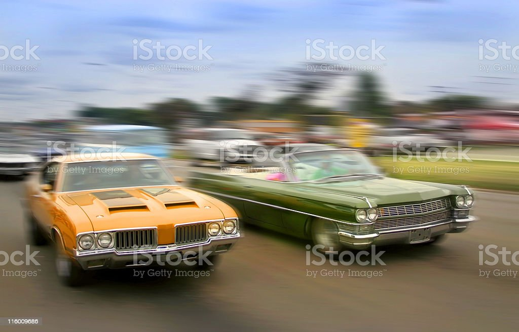 Muscle Cars stock photo