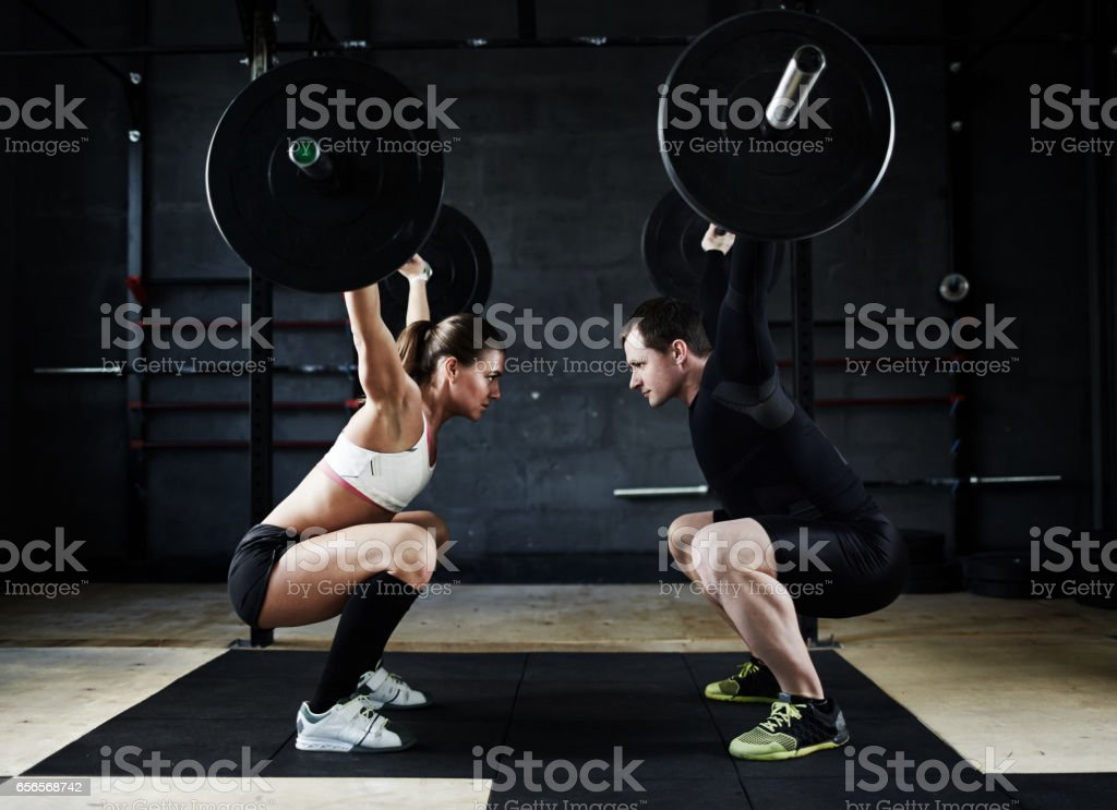 Muscle Endurance Competition stock photo