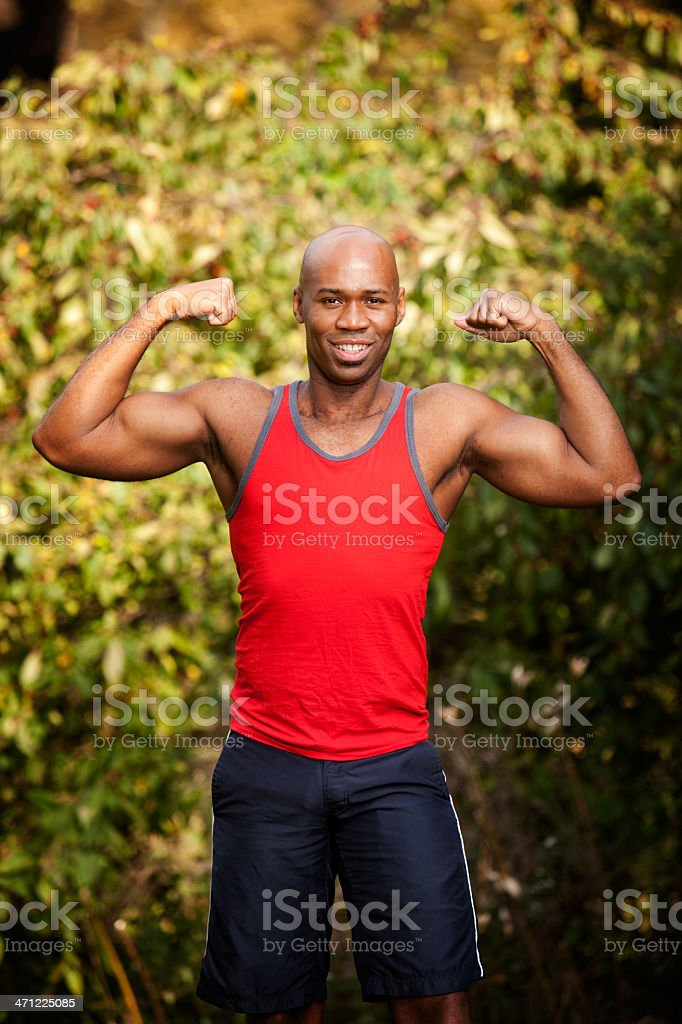 Muscle Fitness royalty-free stock photo
