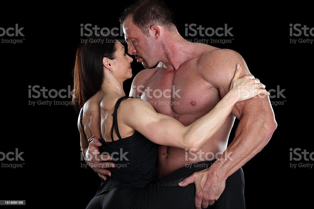 Muscle hug royalty-free stock photo