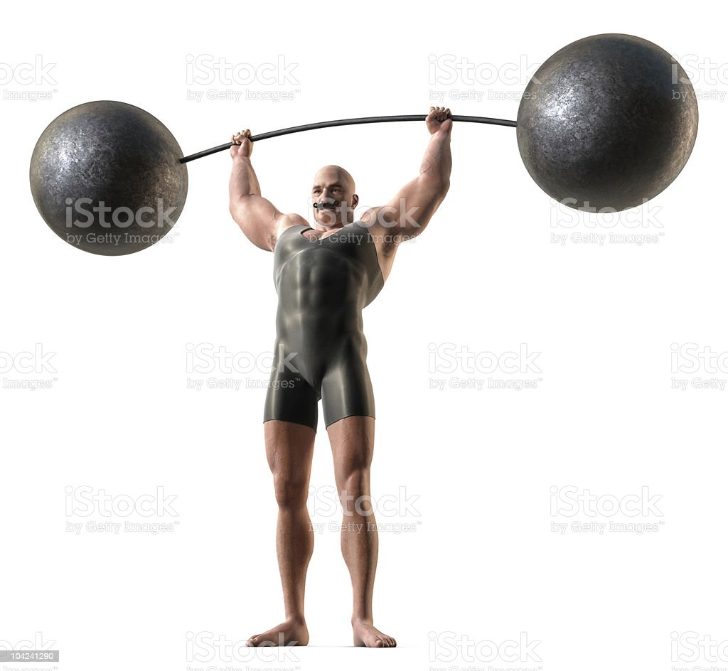 Muscle Man stock photo