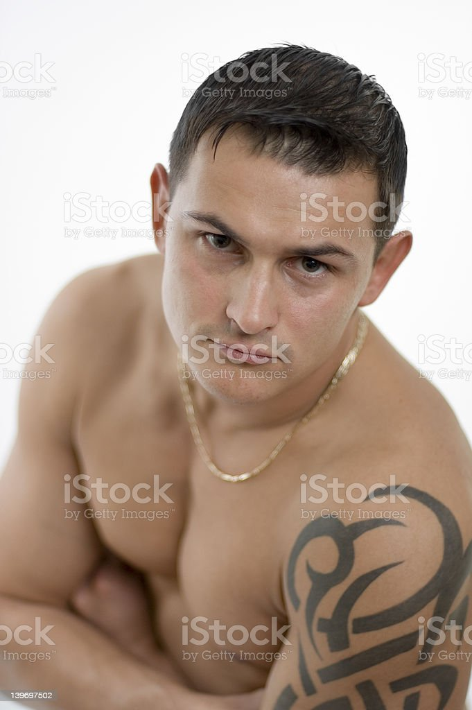 Muscle man royalty-free stock photo