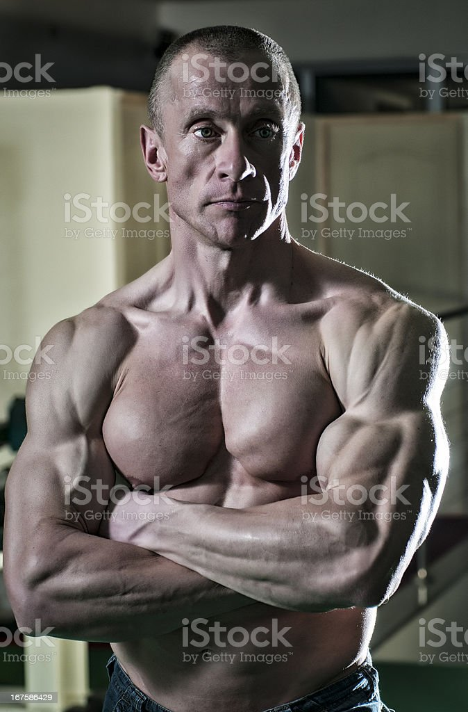 Muscle Men royalty-free stock photo