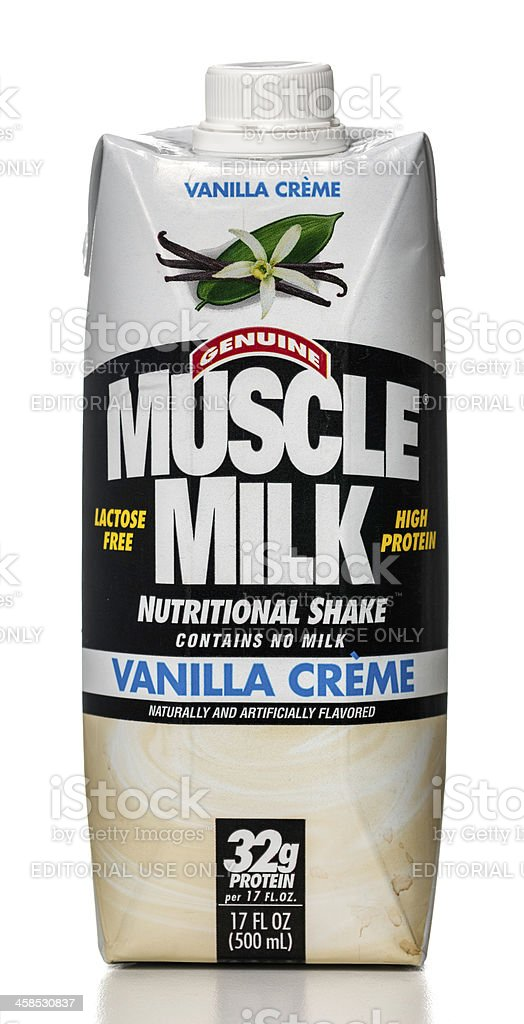 Muscle Milk vanilla creme nutritional shake royalty-free stock photo