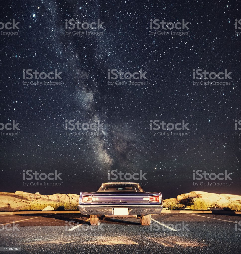 Muscle under the Milky Way royalty-free stock photo