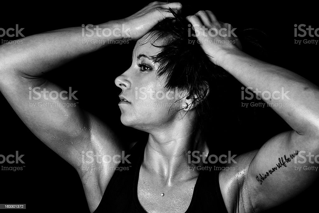 Muscle Woman royalty-free stock photo