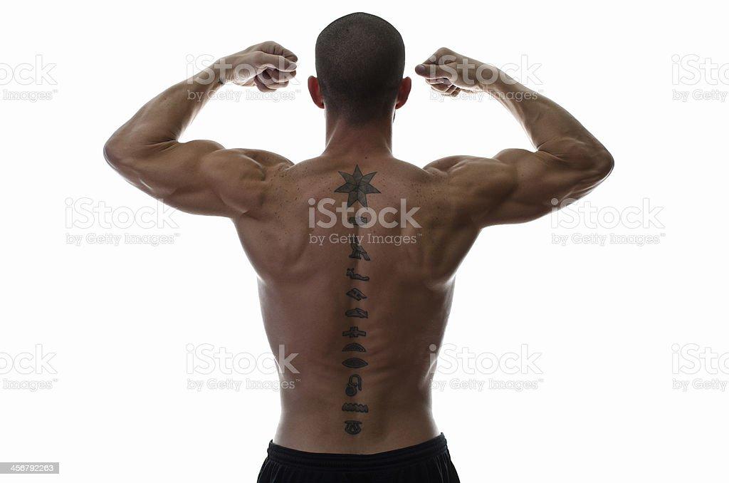 Muscled Z Powrotem Z Tatuaż Stockowe Zdjęcia I Więcej Obrazów