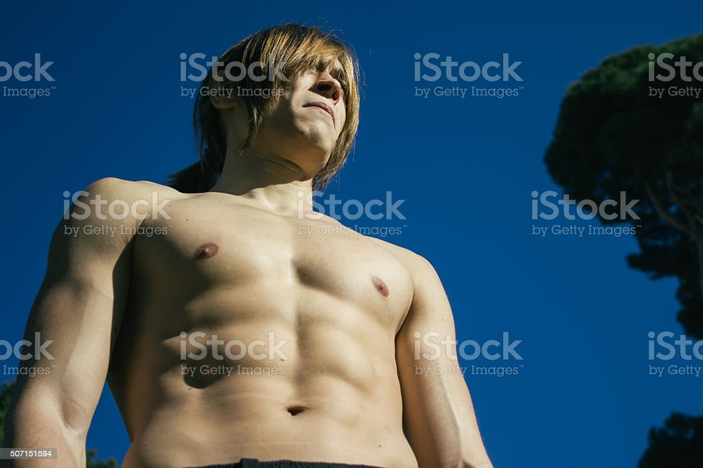 Muscleman stock photo