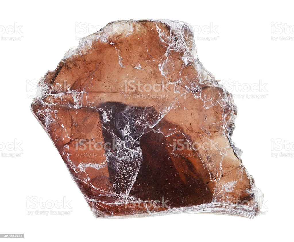 Muscovite mica plate stock photo