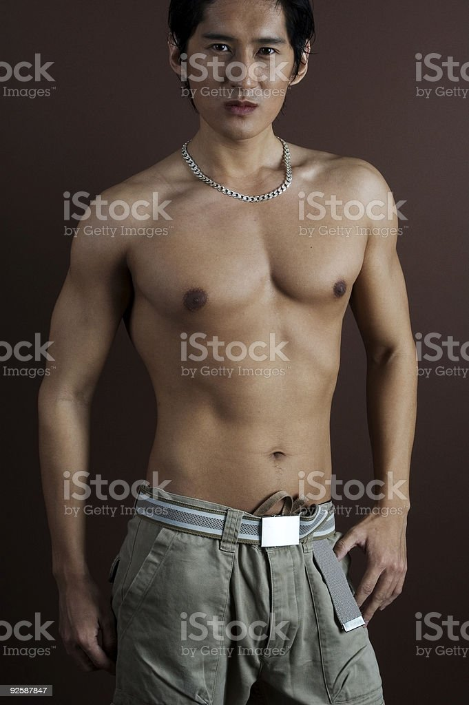 Muscular 6 royalty-free stock photo