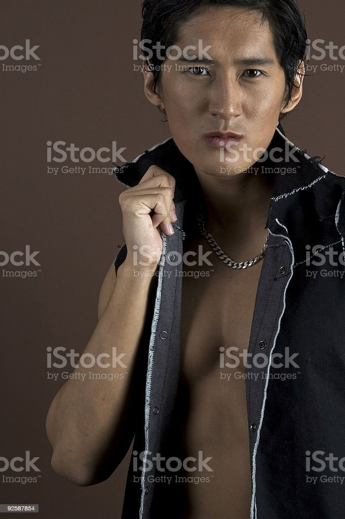Muscular 8 royalty-free stock photo