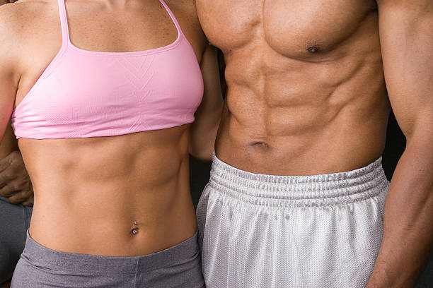 Muscular Abs stock photo
