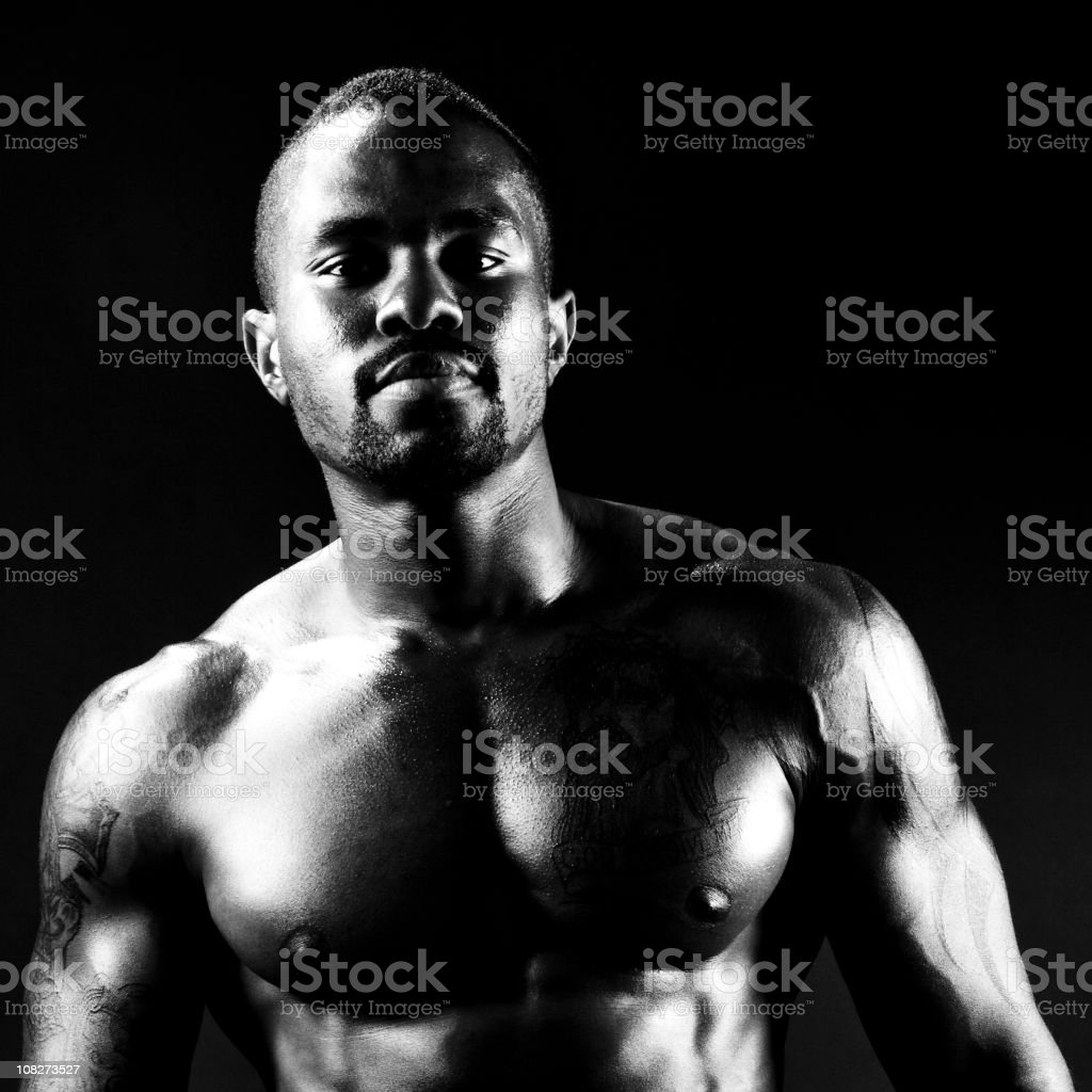 Muscular African American Man royalty-free stock photo
