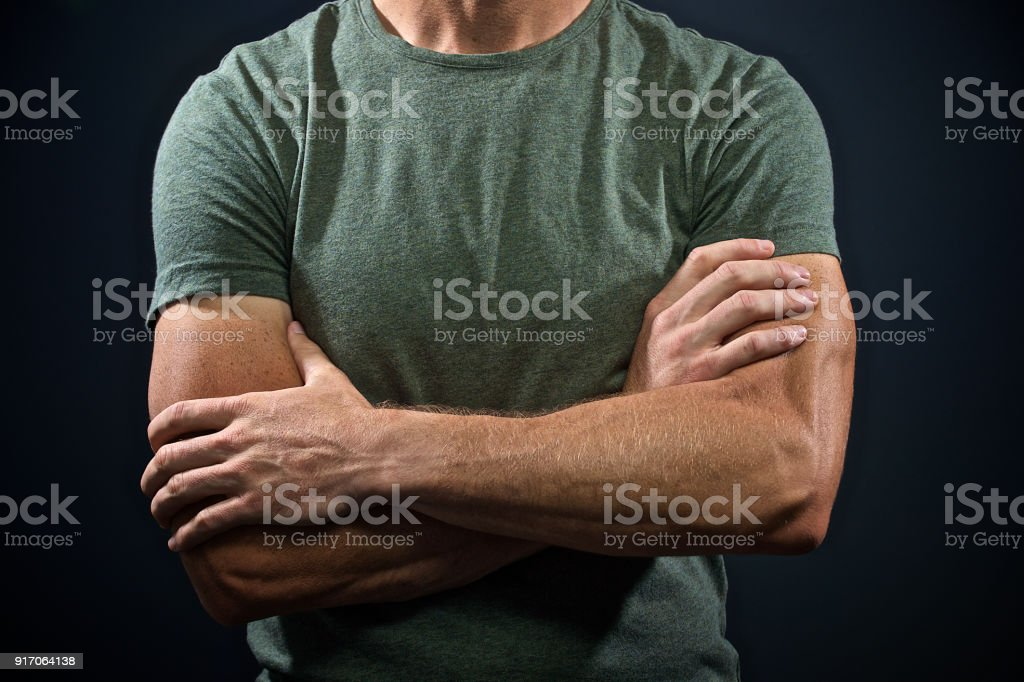 Muscular Arms Crossed stock photo