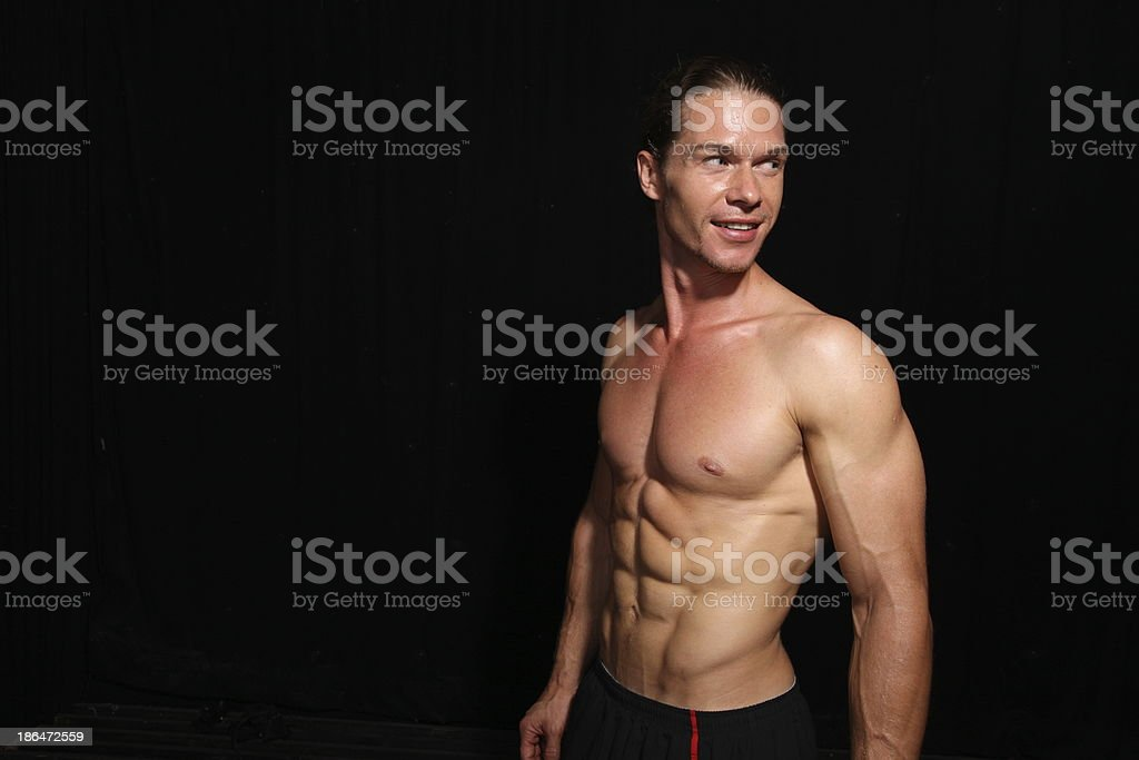 Muscular athlete royalty-free stock photo
