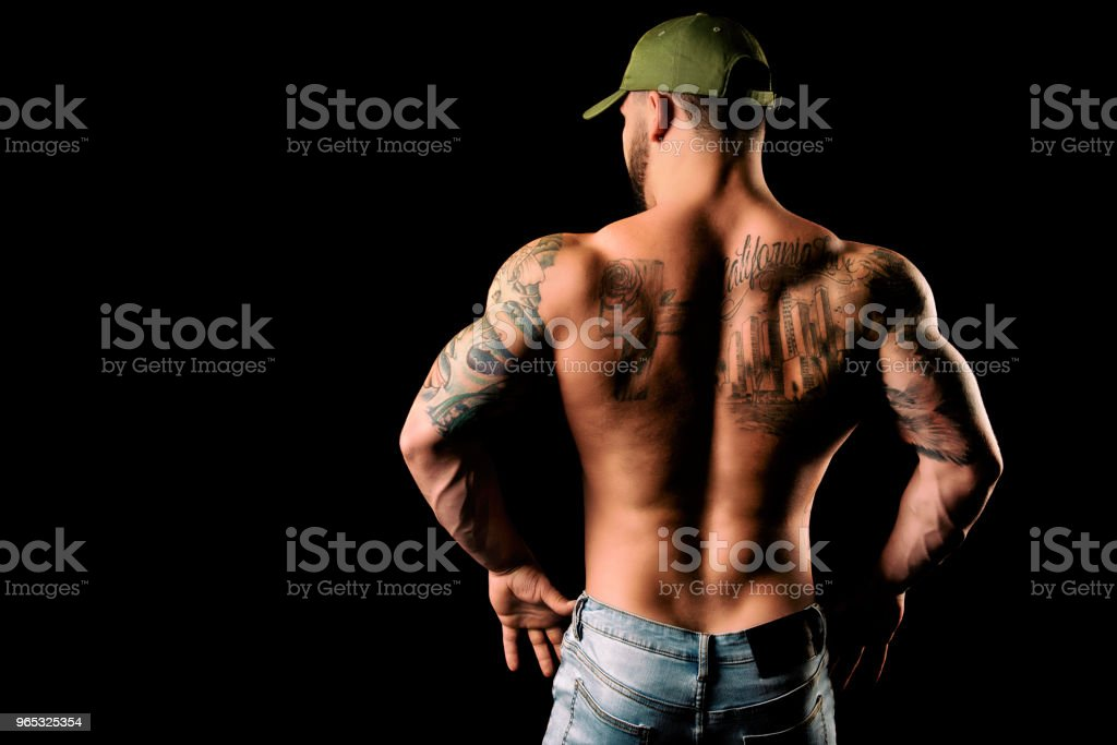 Muscular Back Flexed royalty-free stock photo