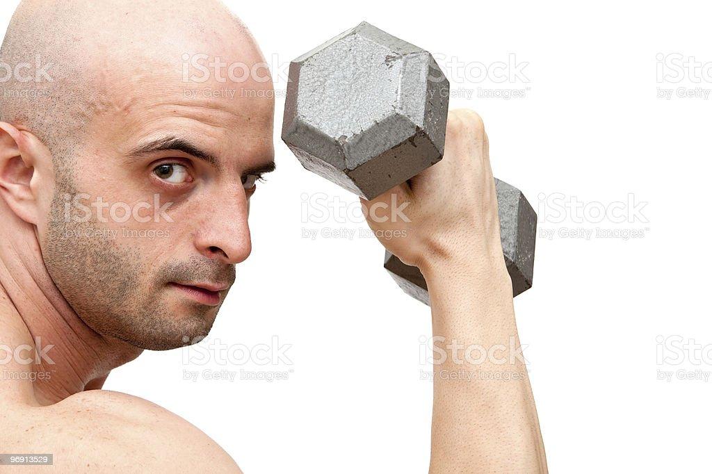 Muscular body builder man royalty-free stock photo