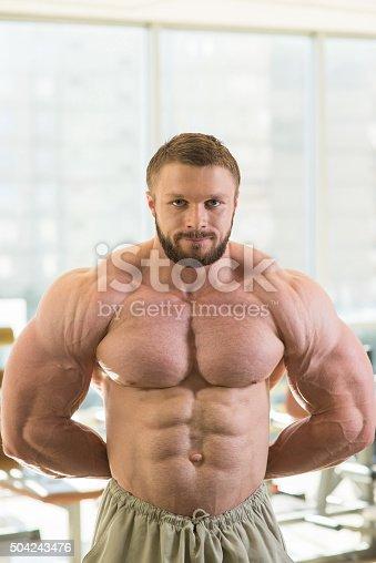 618638418istockphoto Muscular bodybuilder. 504243476