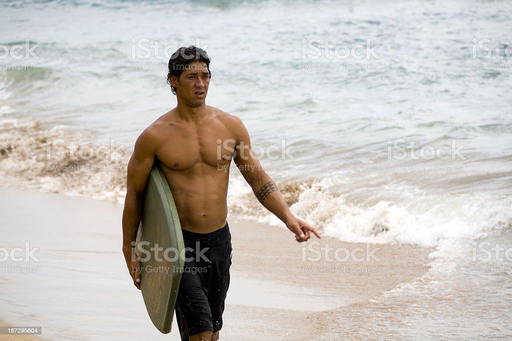 Muscular Boogie  Boarder stock photo