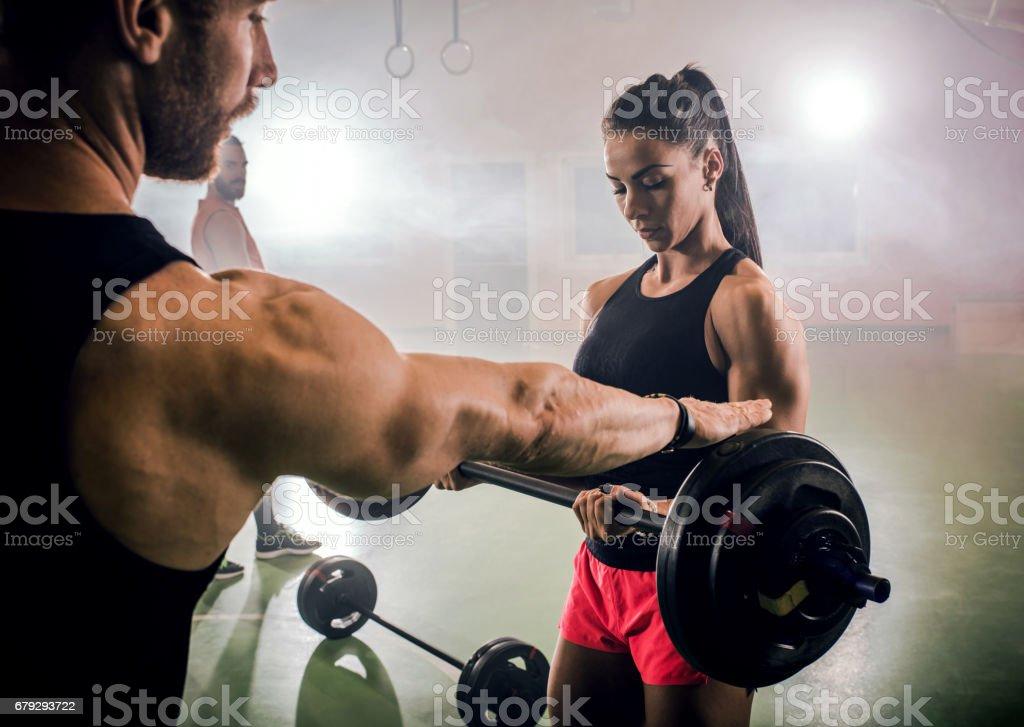 Muskulös frau Die sekundaeren
