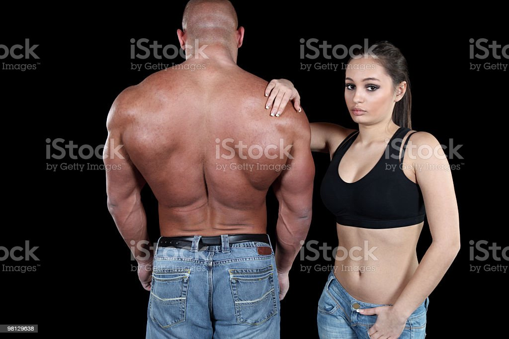 Muscular couple royalty-free stock photo