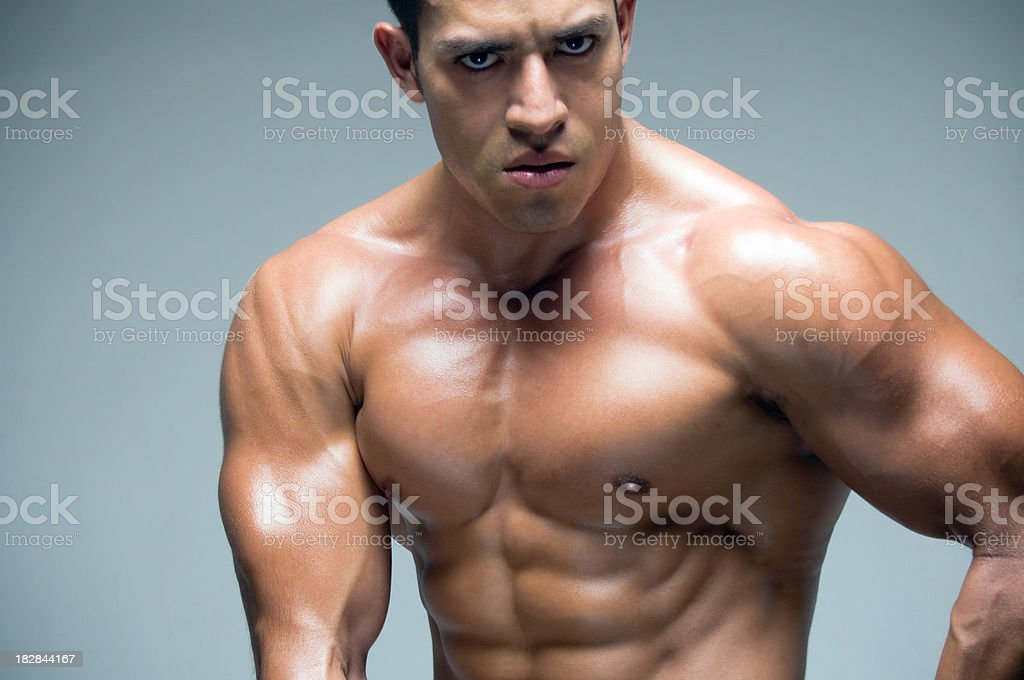 Muscular guy royalty-free stock photo