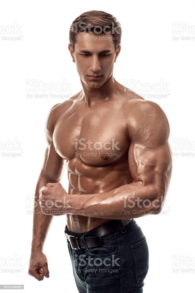 Muscled naked white men