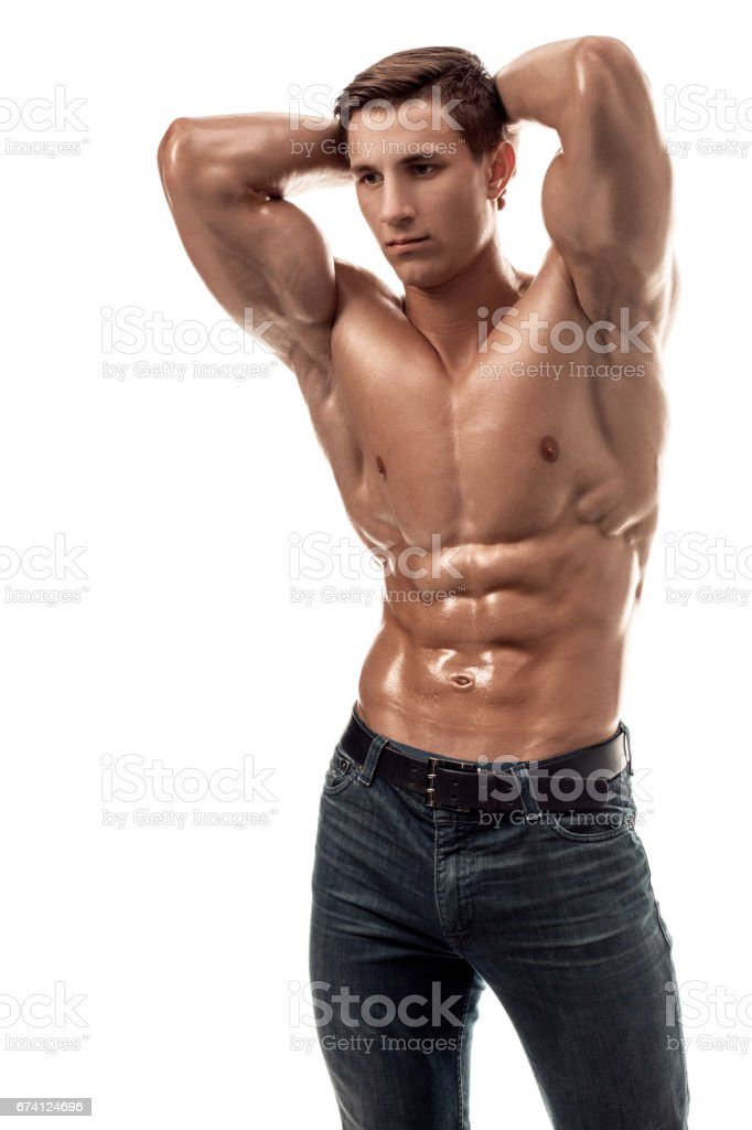 Handsome young man with naked torso — Stock Photo