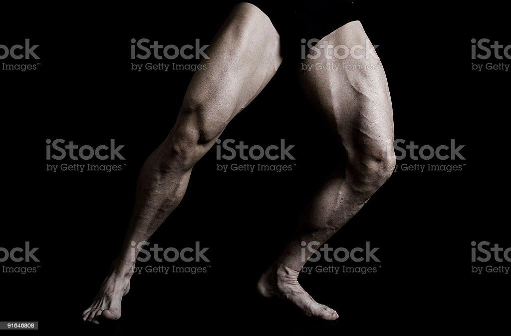 Muscular Legs stock photo