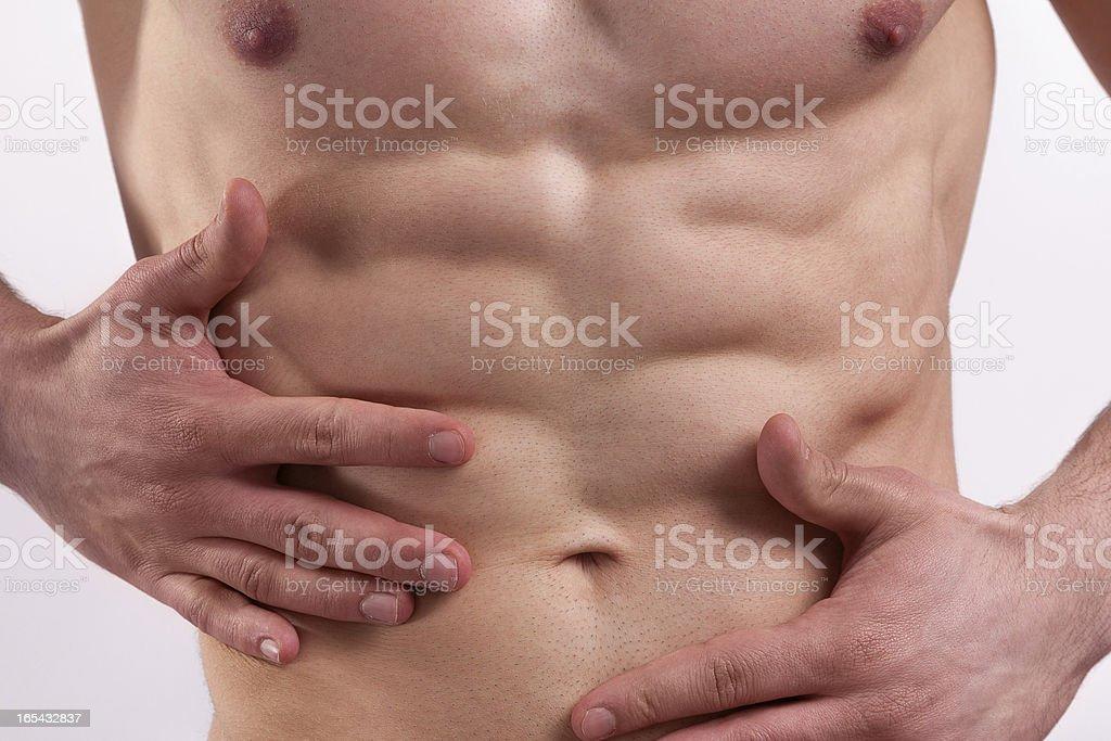 Muscular Male Abdomen royalty-free stock photo