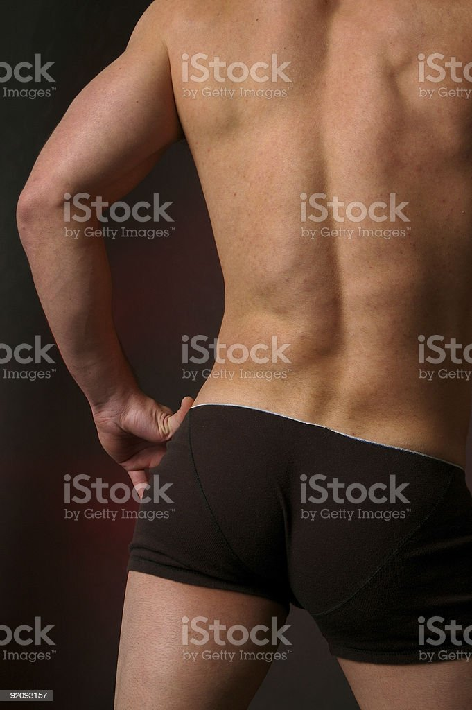 Muscular male back 2 stock photo