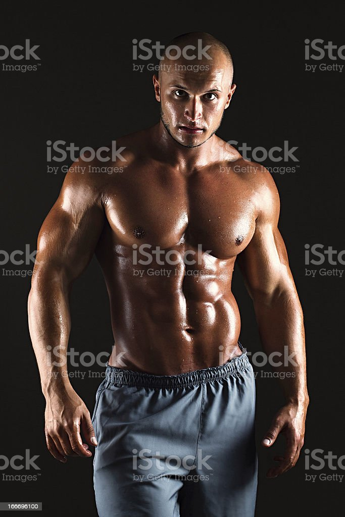 Muscular male bodybuilder royalty-free stock photo