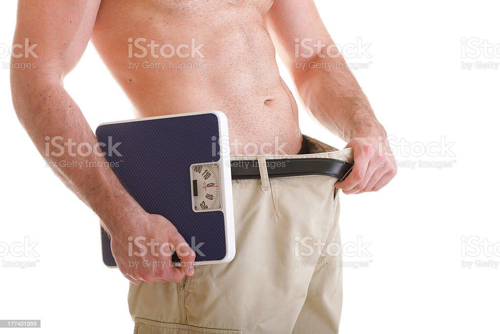 Muscular escala macho de cuerpo aislado sobre blanco foto de stock libre de derechos